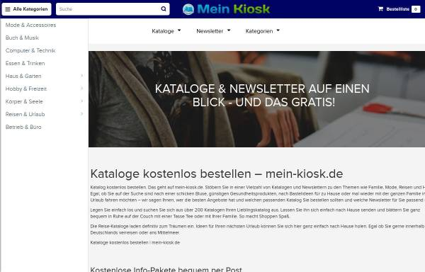 Vorschau von www.katalog-kiosk.de, Katalog-Kiosk.de, Kiosk Online-Dienste GmbH