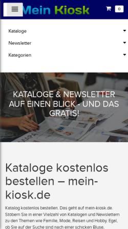 Vorschau der mobilen Webseite www.katalog-kiosk.de, Katalog-Kiosk.de, Kiosk Online-Dienste GmbH