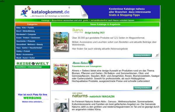 Vorschau von www.katalogkommt.de, Katalogkommt.de, u+m new media GbR