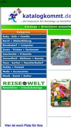 Vorschau der mobilen Webseite www.katalogkommt.de, Katalogkommt.de, u+m new media GbR