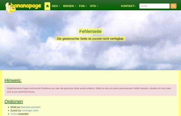 Vorschau von www.bananapage.de, Bananapage [Thomas Klabunde & Uwe Velten]