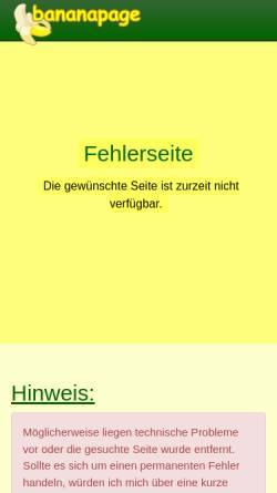 Vorschau der mobilen Webseite www.bananapage.de, Bananapage [Thomas Klabunde & Uwe Velten]
