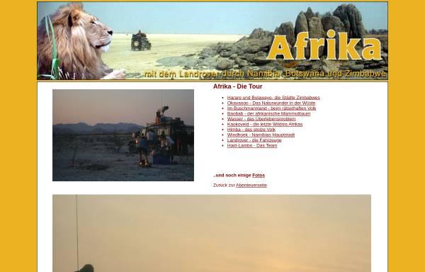 Vorschau von www.rolf-blenn.de, Durch Wüsten und Savannen [Rolf Blenn]