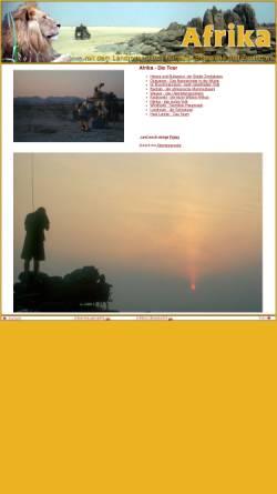 Vorschau der mobilen Webseite www.rolf-blenn.de, Durch Wüsten und Savannen [Rolf Blenn]
