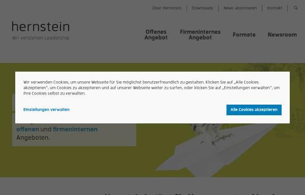 Vorschau von www.hernstein.at, Hernstein Institut für Management und Leadership