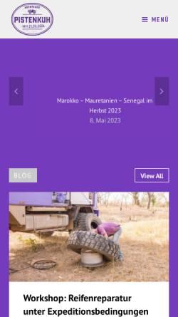 Vorschau der mobilen Webseite www.pistenkuh.de, Pistenkuh [Sabine und Burkhard Koch]