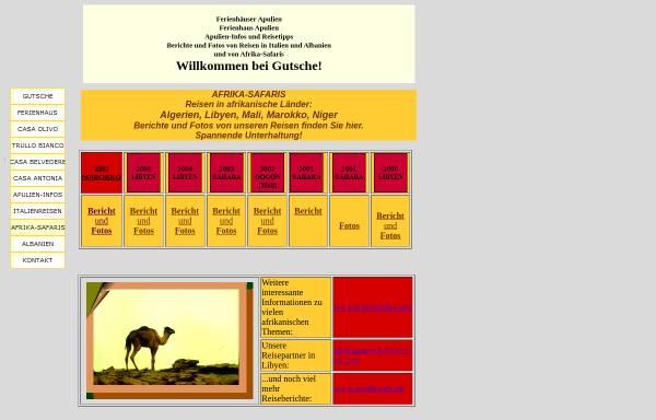 Vorschau von gutscheh.de, Reiseberichte aus Libyen, Algerien, Mali und Niger [Angelika und Hellmut Gutsche]