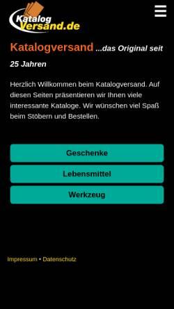 Vorschau der mobilen Webseite www.katalogversand.de, Katalogversand.de, Marcus Schmidt