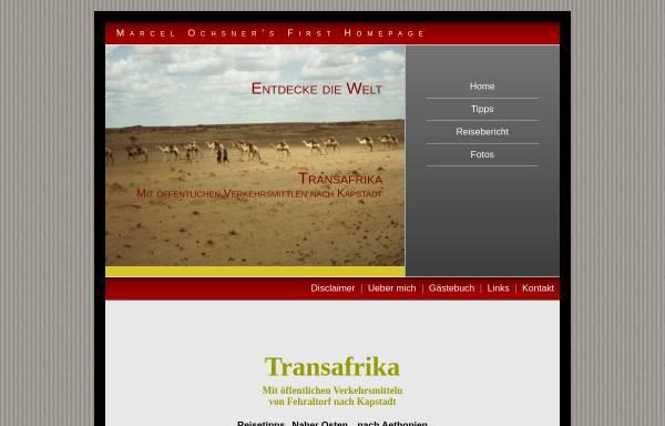 Vorschau von www.travellernet.ch, Transafrika [Marcel Ochsner]