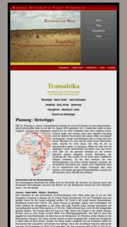Vorschau der mobilen Webseite www.travellernet.ch, Transafrika [Marcel Ochsner]