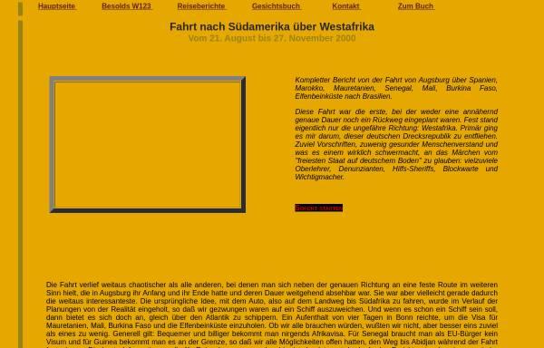 Vorschau von www.mercedes124.de, Westafrika mit dem Auto [Markus Besold]
