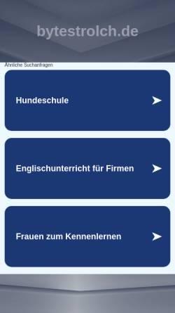 Vorschau der mobilen Webseite mali.bytestrolch.de, 4 Wochen von Bamako bis Timbuktu [Steffen Fricke]