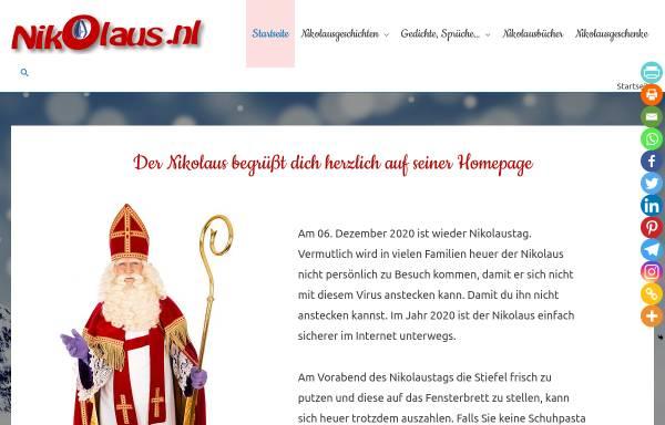 Vorschau von www.nikolaus.nl, Nikolaus