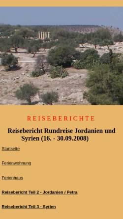 Vorschau der mobilen Webseite www.fewo-haarhausen.de, 7-Tage-Rundreise durch Jordanien 2008 [Susanne & Andreas Mauersberger]