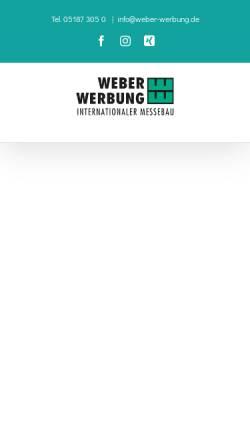 Vorschau der mobilen Webseite www.weber-werbung.de, Weber Werbung