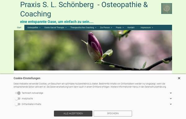 Vorschau von www.osteopathie-schoenberg.de, Sabine L. Schönberg