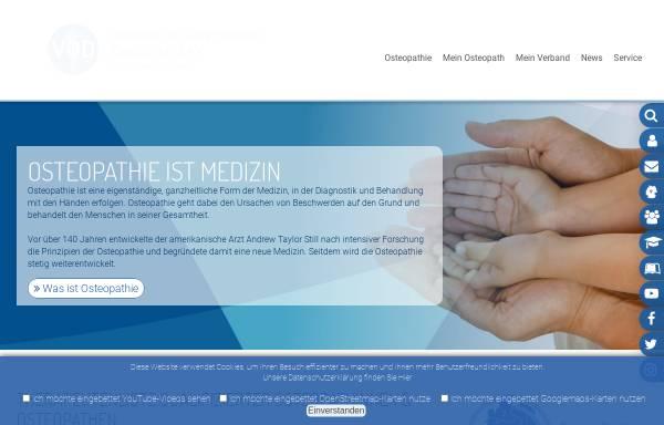 Vorschau von www.osteopathie.de, Verband der Osteopathen Deutschland e.V. (VOD)