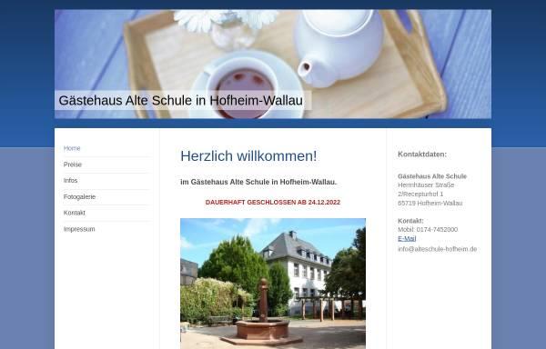 Vorschau von www.alteschule-hofheim.de, Gasthof Alte Schule