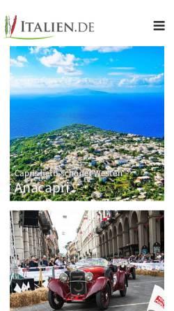 Vorschau der mobilen Webseite www.italien.de, Go 4 Sun