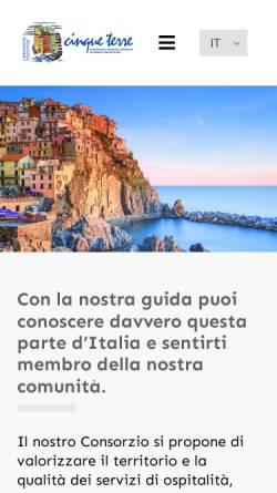 Vorschau der mobilen Webseite www.cinqueterre.it, Tourismusverband Cinque Terre