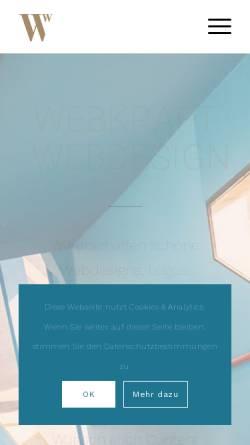 Vorschau der mobilen Webseite www.webkraft.ch, Webkraft