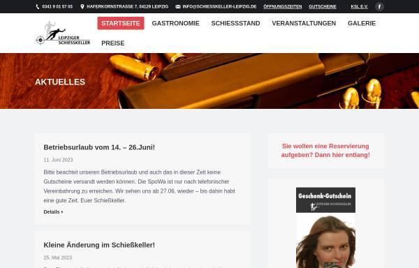 Vorschau von www.schiesskeller-leipzig.de, Leipziger Schießkeller, Udo Walther & Peter Degen
