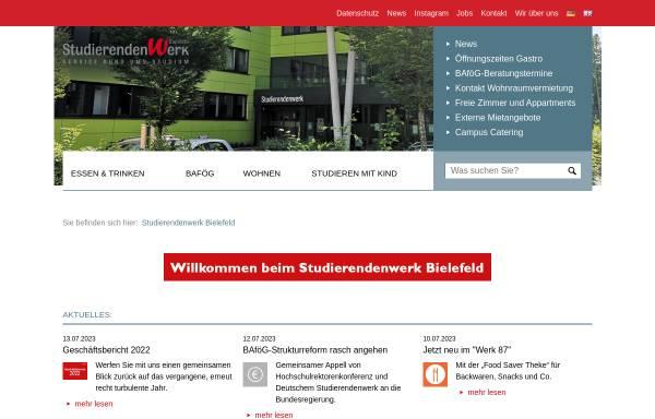 Vorschau von www.studentenwerkbielefeld.de, Studentenwerk Bielefeld
