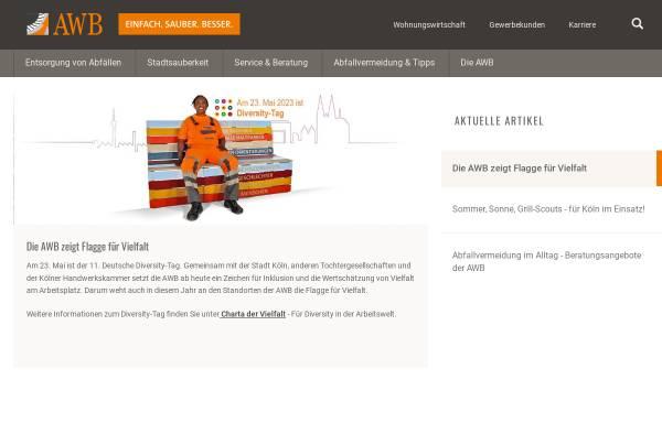 Vorschau von www.awbkoeln.de, AWB Abfallwirtschaftsbetriebe Köln GmbH & Co. KG