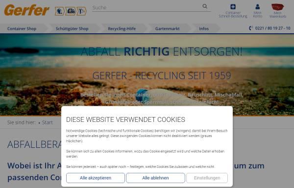 Vorschau von www.gerfer.com, Gerfer Transporte GmbH