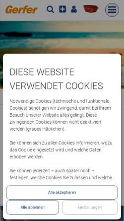 Vorschau der mobilen Webseite www.gerfer.com, Gerfer Transporte GmbH