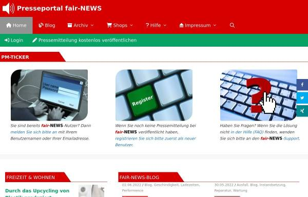 Vorschau von www.fair-news.de, Fair-news