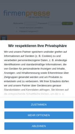 Vorschau der mobilen Webseite www.firmenpresse.de, Firmenpresse.de