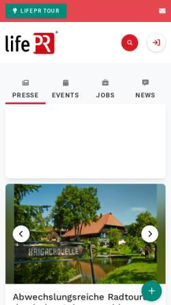 Vorschau der mobilen Webseite www.lifepr.de, LifePR