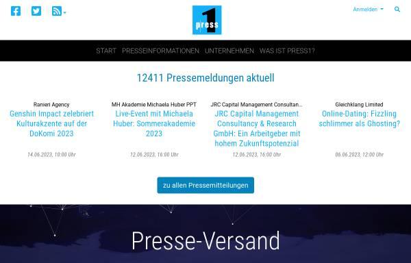 Vorschau von www.press1.de, Press1