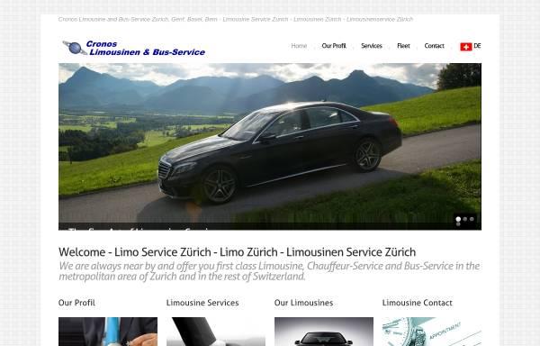 Vorschau von www.cronoslimousinen.ch, Cronos Limousinen