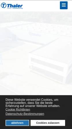 Vorschau der mobilen Webseite www.jakobthaler.com, Jakob Thaler GmbH