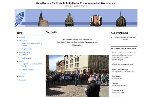 Vorschau von www.cjz-muenster.de, Gesellschaft für Christlich-Jüdische Zusammenarbeit Münster e.V.