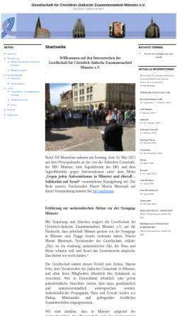 Vorschau der mobilen Webseite www.cjz-muenster.de, Gesellschaft für Christlich-Jüdische Zusammenarbeit Münster e.V.