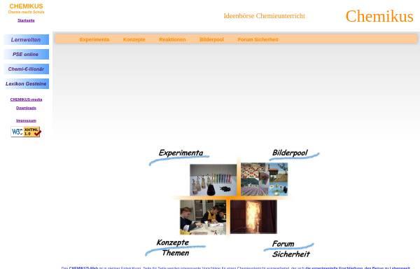 Vorschau von www.chemikus.de, Chemikus
