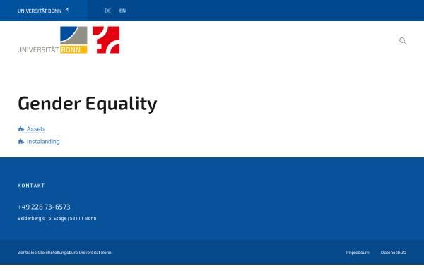 Vorschau von www.gleichstellung.uni-bonn.de, Center of Excellence - Women and Science