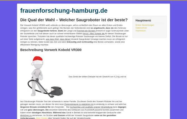 Vorschau von www.frauenforschung-hamburg.de, Frauenstudien Hamburg