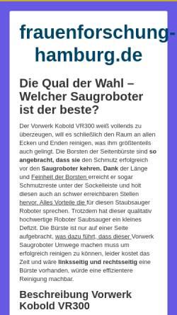 Vorschau der mobilen Webseite www.frauenforschung-hamburg.de, Frauenstudien Hamburg