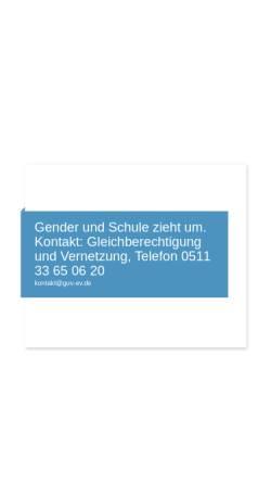 Vorschau der mobilen Webseite www.genderundschule.de, Gender und Schule