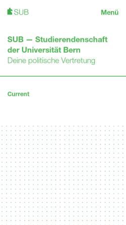 Vorschau der mobilen Webseite www.sub.unibe.ch, Genderstudies.CH