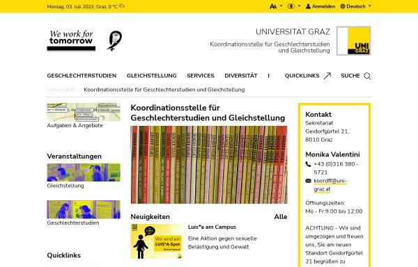 Vorschau von koordination-gender.uni-graz.at, Koordinationsstelle für Frauen- und Geschlechterforschung der Karl-Franzens-Universität Gr