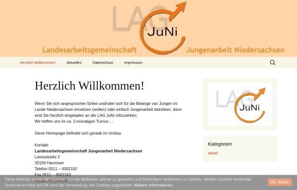 Vorschau von www.lag-juni.de, Landesarbeitsgemeinschaft Jungenarbeit Niedersachsen