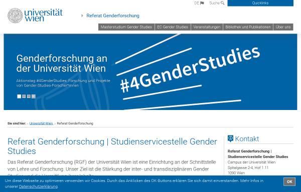 Vorschau von gender.univie.ac.at, Projektzentrum Frauen-und Geschlechterforschung
