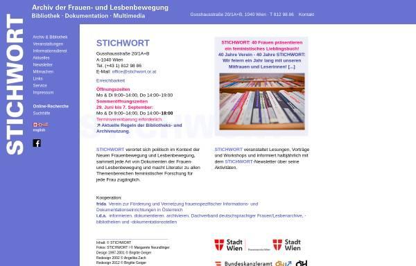 Vorschau von www.stichwort.or.at, Stichwort