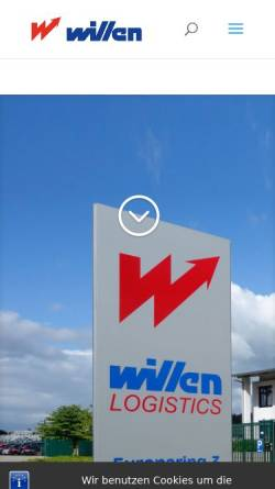 Vorschau der mobilen Webseite www.willen.biz, Alwin Willen Speditions-GmbH, Willen Transport GmbH und Willen Service GmbH