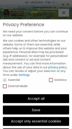 Vorschau der mobilen Webseite www.kosaido.de, Kosaido International Golf Club